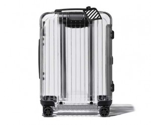 The Off-White x Rimowa transparent suitcase is clearly TSA-Friendly