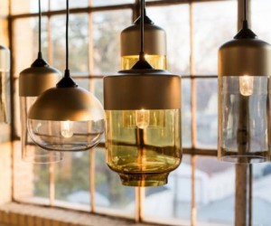 The Parallel Series of glass pendant lamps