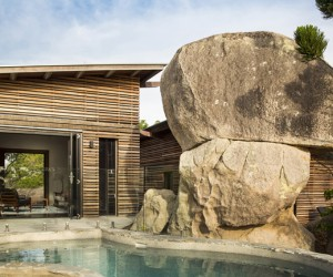 The Pavilions Set Amongst the Treetops and Giant Granite Boulders