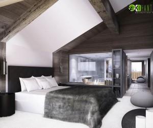 The Perfect 3D Wooden Bedroom Rendering