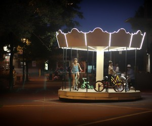 THE SHAMROCK SQUARE CAROUSEL : a playful and interactive installation