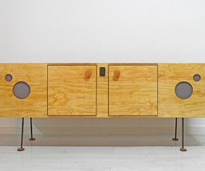 The Speakerdenza Plywood Credenza Speaker