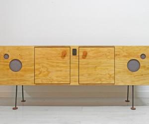 The Speakerdenza Plywood Credenza Speaker