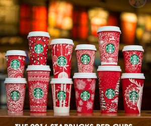 The Starbucks 2016 Holiday Red Cups