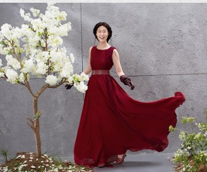 The Temptation of Claret  Midi Dress