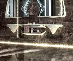 The Vitae Bathroom Collection by Zaha Hadid Design