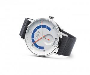 The Werner Aisslinger-designed Nomos Autobahn Timepiece