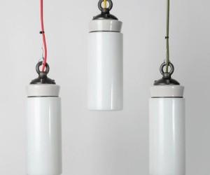 The White Flask Pendant