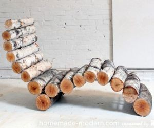 DIY Wood Log Lounger