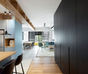 This Family Apartment Maximizes Storage Space with Nifty Custom Cabinetry