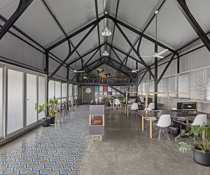 This Modern Industrial Workspace Has a Unique Personality of Its Own