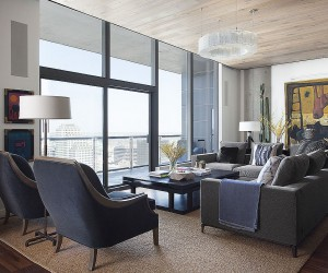 This Posh Austin Condo Features a Dining Table that Morphs into Pool Table