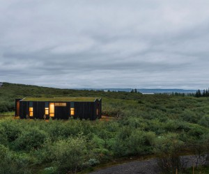 This Rural Cottage in Iceland Have Turf Roofs and Burnt Timber Cladding