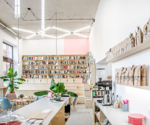 This Trendy Coffee House and Bookstore in Poznan was an Old Milk Bar