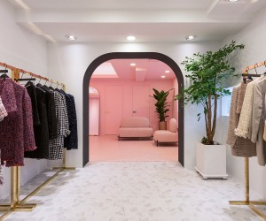 This Urbane and Eye-Catching High-End Showroom is Color-Coded