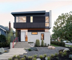 This Vancouver Home Wows with a White Brick Faade and Bamboo Garden
