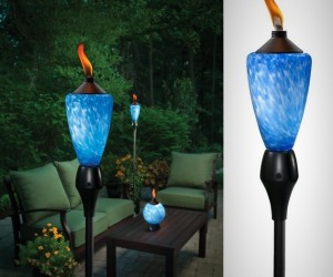 TIKI Lamplight Glowing LED and Flame Torch