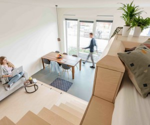 Timber Loft in Amsterdam Offers Compact Space with Generous Feel