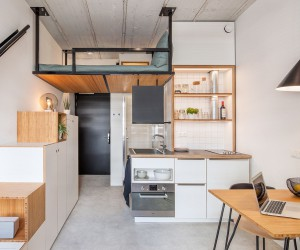 Tiny 18 Sqm Apartment Offers Student Housing with Space-Savvy Ease