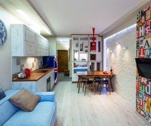 Tiny Apartment in Kiev by Art Studio