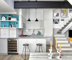Tiny Duplex Apartment in Manhattan by AMMOR Architecture