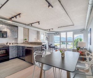 Tiny Industrial Loft in Vancouver Charms with Ocean and Mountain Views