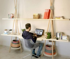Tipi Shelf by Assaf Israel