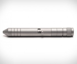 Titanium EDC Pen and Flashlight