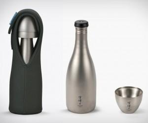 Titanium Sake Set