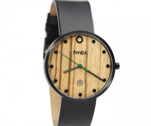 tmbr. The Mill: Black Zebrawood Watch