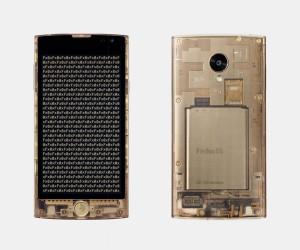 Tokujin Yoshioka designed transparent smartphone Fx0