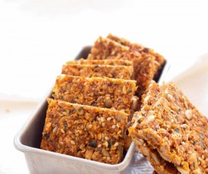 Tomato Basil Nut and Seed Crackers