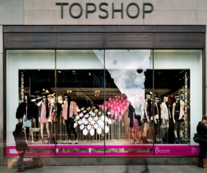Topshop Bloom kinetic installation by Neon