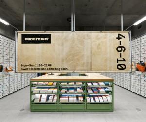 Torafus Kiosk-style Inspired FREITAG Store Osaka