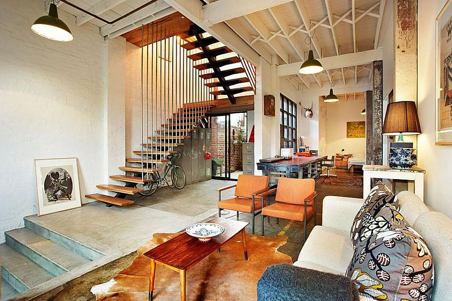 Touch Of New York Loft Style Warehouse Conversion In Melbourne