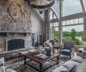 Tour This Gorgeous Traditional Style Home Perched Over Lake Keowee