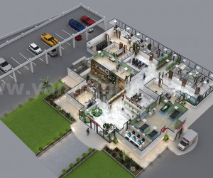 Traditional Hospital 3d Floor Plan Design Ideas by Yantram 3d floor plan software Mexico city