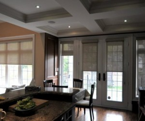 Transitional Roller Shades by Night and Day Window Decor