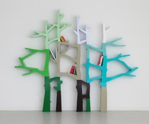 Tree Trunk Shelving by Nurseryworks