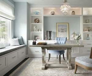 Trend Spotting: Create a Soothing Home Office with Pastels