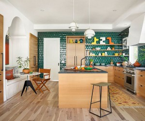 Trendy Colorful Kitchen Backsplashes: From Blue and Green to Copper and Black