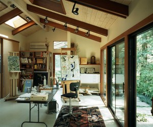 Trendy Ideas for a Home Office with Skylights