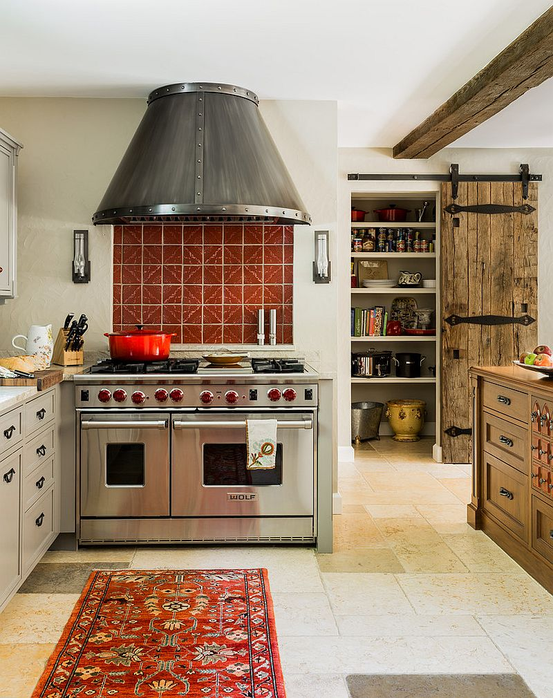 Trendy Kitchens That Unleash The Allure Of Sliding Barn Doors
