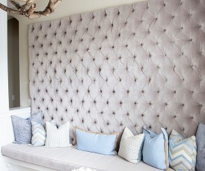 Trendy Rooms with Tufted Wall Panels