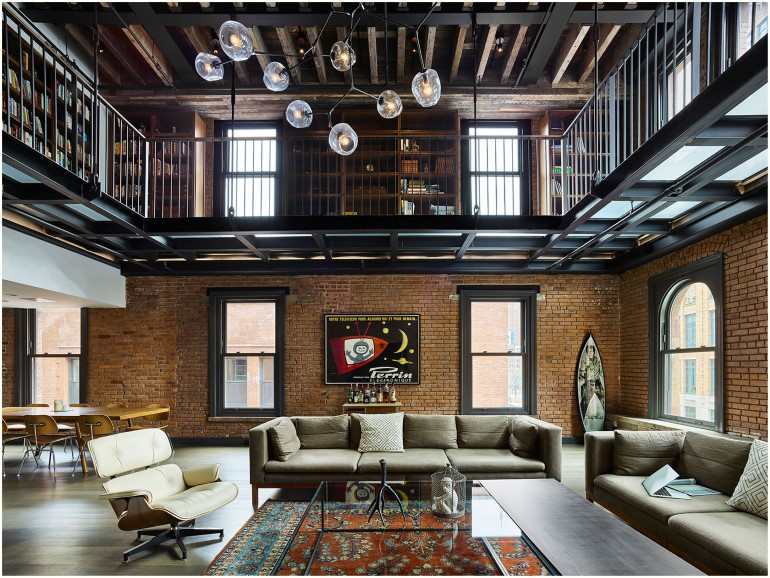 Tribeca loft 1892 building transformed into a cozy home - Loft industriel tribeca franz architecte ...