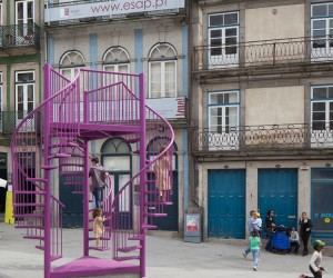 Tripod Installation in Porto by LIKEarchitects