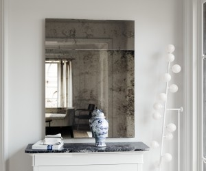 Trumeau Wall Mirror. Antiqued wall mirror in the classic Trumeau style