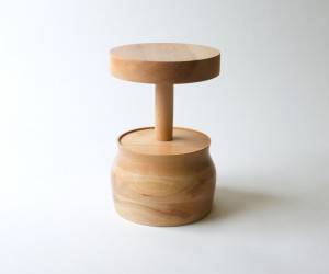Turned Stool by Jeff Martin Joinery