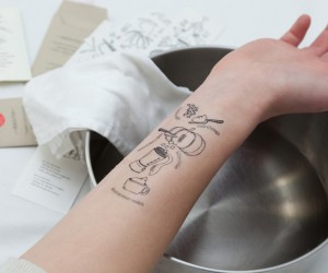 Turns Your Arm into a CookBook with Temporary Tattoos