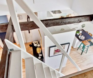 Two level attic in Sweden